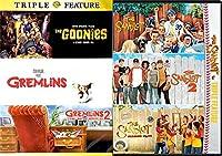 Sandlot DVD Kids 6 Movies Goonies / Gremlins pt 1 & 2 Family Baseball Triple Feature Sandlot pt 1/2/3 film bundle fun