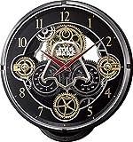 リズム時計 STAR WARS ( スターウォーズ ) 電波 からくり 掛け時計 KARAKURI CLOCK PREMIUM/ スター・ウォーズ ダースベイダー モデル ゴールド 4MN547MC02