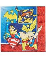 DCスーパーヒーローガールズLunch Napkins Pack of 16 One-Size マルチカラー 013051635732