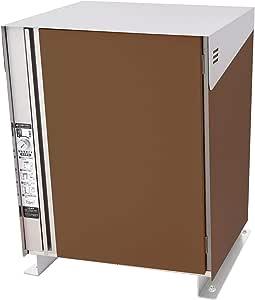 San Jose(サンノゼ) クローク 宅配ボックス (電気工事不要・宅配使い方ステッカー付き) 戸建て用 個人宅 屋外 ディンプルキー付 70L 大型大容量 ステンレス製 日本製 据え置きベースセット チョコレート