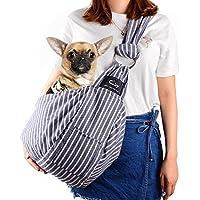 CUBY ペットスリング 犬 抱っこ紐 スリングバッグ 小型犬 ねこ用/いぬ用(長さ調整可能)