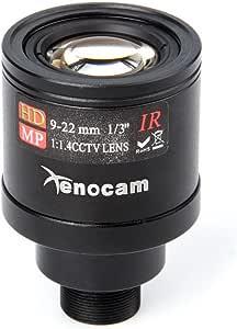 Gazechimp 9 22 Mm 1//3 IR F1.4 CCTV Video Objektiv Mit Variabler Brennweite F/ür Die