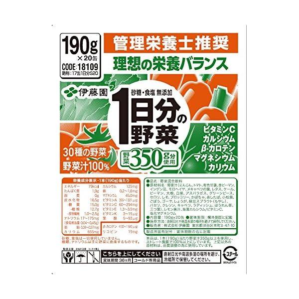 伊藤園 1日分の野菜の紹介画像5