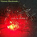 200PCS / Lot 3mm丸型赤色LEDダイオード超高輝度水クリアLEDライトランプ赤色