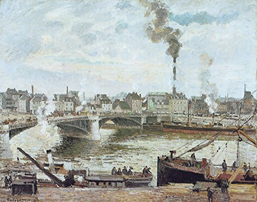 The Museum Outlet - The Great Bridge, Rouen, 1896 - Poster Print Online Buy (30 X 40 Inch)