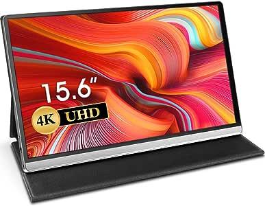 Uperfect 4K 15.6インチ モバイルモニター 3840*2160@60hz/USB Type-C*2/HDMI/超薄/IPSパネル モバイルディスプレイ Nintendo Switch/PS4 XBOXゲームモニタ 保護ケース付 [3年保証](UP-1510)