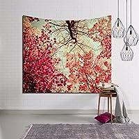 NYDZDM タペストリーデジタル印刷森の壁掛けアート、ビーチタオル寝具ベッドカバーのテーブルクロスのピクニックブランケット (Color : A, Size : 203 × 150cm)