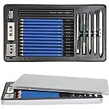 YOTINO 23 Pcs Drawing and Sketching Pencil Set, Professional Sketch Pencils Set in Aluminum Case, Art Supplies Drawing Kit fo