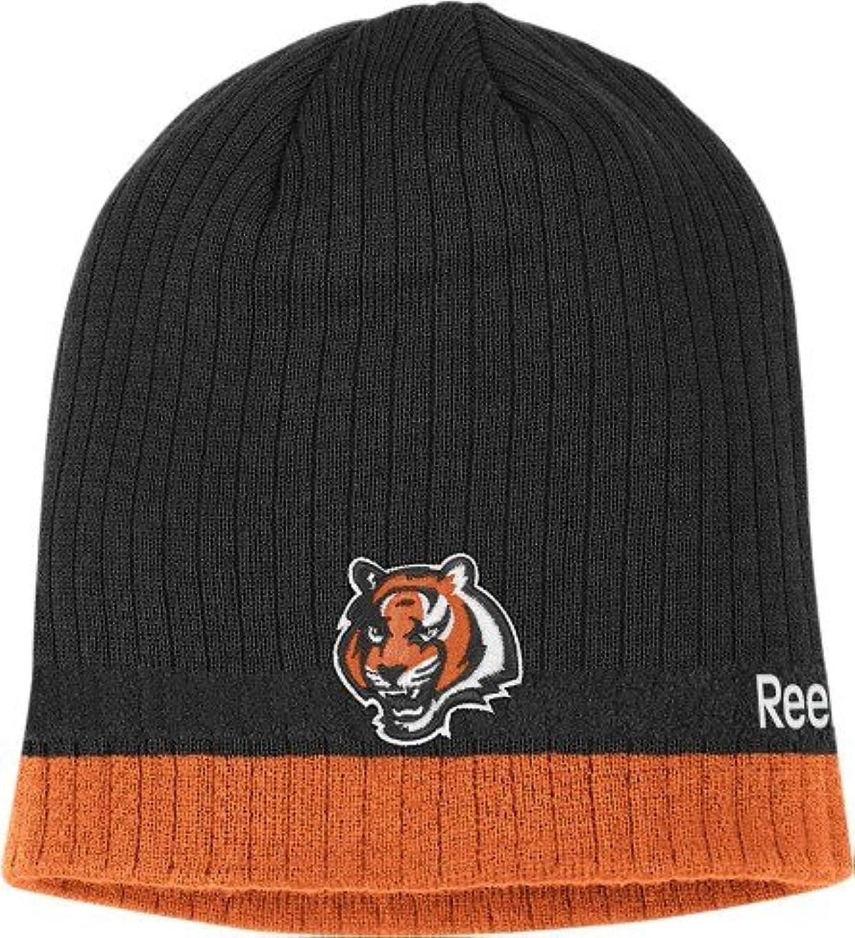 長いです報いる小麦Cincinnati Bengals Reebok 2010 Sideline Cuffless Knit Hat