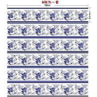 階段自己粘着性の壁紙中国スタイルの青い家の装飾3D取り外し可能なDIYのステレオステッカーモダンなHD防水の階段の壁紙は、3つは無料で1つを購入する