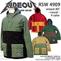 ∴スノーボード ウェア/ ジャケット 中綿 rideout(ライドアウト) wizard jacket RSW4909 メンズ レディース 14-15 無地