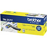 Brother Genuine TN257Y High-Yield Printer Toner Cartridge, Yellow, Page Yield Up to 2300 Pages, (TN-257Y)