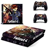 Ps4 Console Best Deals - Junsi Fallout 4 Wrap Body Skin Decal Sticker for 用デカールステッカーPlaystation 4 PS4 Console+Controllers New