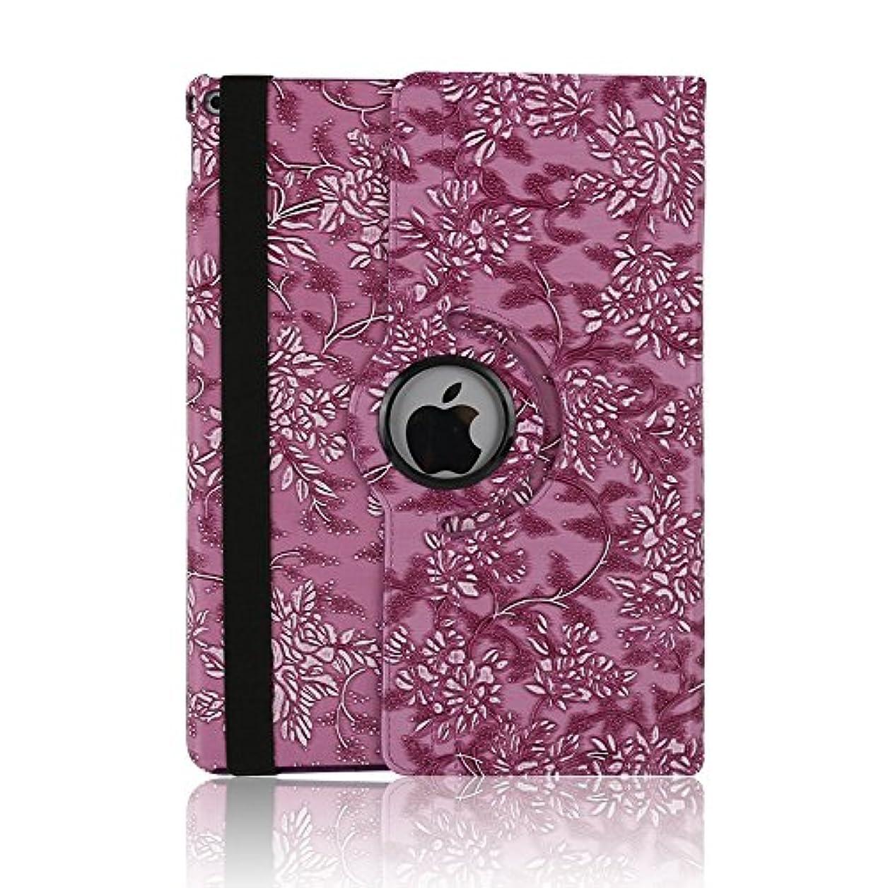 征服するバウンスキリストケース ipad 手帳型、SIMPLE DO 360度回転式 スタンド機能 三つ折り 軽量 持ち運び便利 耐衝撃 レディース 女子 人気 おしゃれ 通勤 iPad Air 2 9.7インチ対応(パープル)