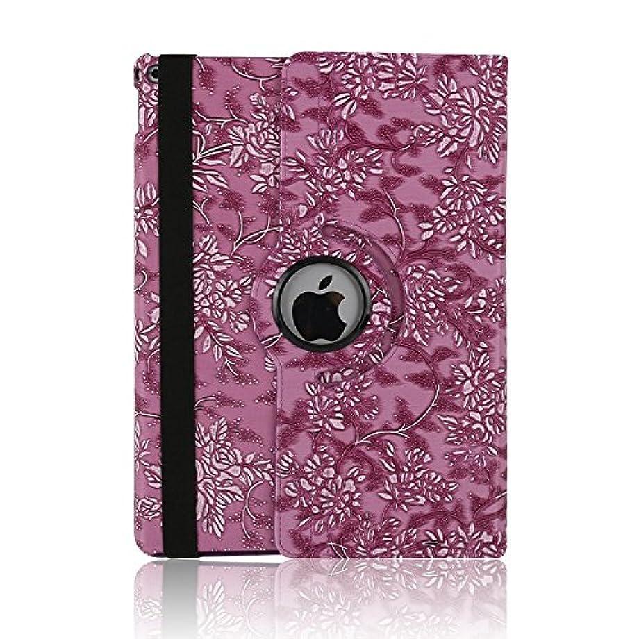 ケース ipad 手帳型、SIMPLE DO 360度回転式 スタンド機能 三つ折り 軽量 持ち運び便利 耐衝撃 レディース 女子 人気 おしゃれ 通勤 iPad Air 2 9.7インチ対応(パープル)