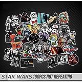スッテカー Samhe スターウォーズスッテカー Star Wars Stickers ダブりなし 100枚セット ステッカーセット 防水加工 ストリートオシャレデコレーションシール スケボー ステッカー マット素材