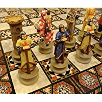 Medieval Times Crusades Sir Richard Lionheart Knights Chess Set With 17