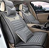 (ファーストクラス)FirstClass シートカバー リネン 全席シートクッション 5人乗り車汎用 フィエスタ コルベット 灰色 10pcs