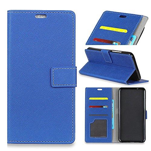 Samsung Galaxy SC-02L シェル, [余分な カード スロット] Happon ニッポン [財布 シェル] PU レザー TPU ケーシング Cover [ドロッププロテクション] カバー の Samsung Galaxy SC-02L, Blue