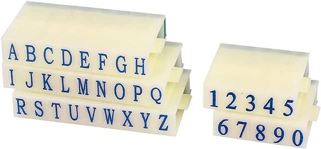 Myoffice アルファベット数字スタンプ 26 文字 0-9 アラビア数字 ブロックセット