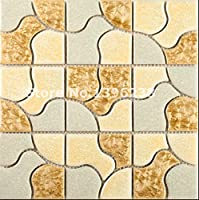 ミックスモザイク 磁器質モザイクタイル 床・壁、浴室・カウンター キッチン・台所・洗面台 のDIYリフォームにお勧め LSQHC04 (11シート(1ケース))