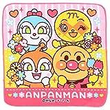 ナスト― アンパンマン ミニタオル 25×25cm お花シリーズ ピンク 2875100