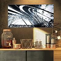"DesignArt 3d抽象アートブラック構造抽象デジタルアートキャンバス印刷 32x16"" PT8551-32-16"