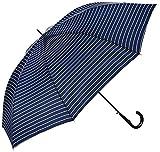 (ムーンバット) MOONBAT(ムーンバット) (ミズノ) MIZUNO 紳士ジャンプ式長傘(少し大きめ親骨70cm) 耐風傘2カラーストライプ