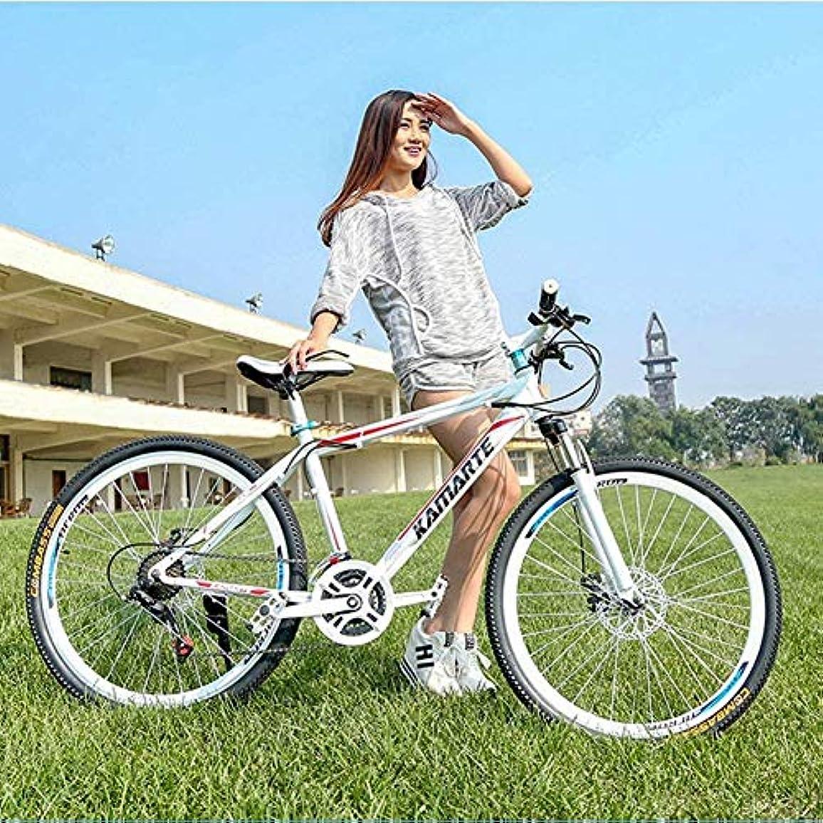 ロケーション遺伝的ご予約マウンテンバイク26インチのマウンテンバイクトレイル、高炭素鋼のフレーム、デュアルディスクブレーキ付きメンズ?レディース?全地形マウンテンバイク,B,27スピード