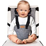 liuliuby On-The-Go Harness Seat - Padded Portable High Chair with Safety Harness, Travel Booster Seat for Babies and Toddlers