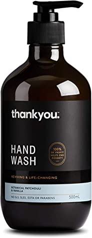 Thankyou Hand Wash Botanical Patchouli & Vanilla - Reviving (500mL)