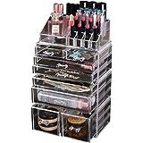 Cosmetic 8 Drawer Makeup Organizer Storage Jewellery Holder Box Acrylic Display 8 Drawers(A)