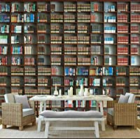 Hanhantang 3Dの本棚の本の壁画の居間の調査のオフィスの壁の装飾-200X140Cm