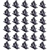 Haobase 30 Pcs Black Clips Self Adhesive Backed Nylon Wire Adjustable Cable Clips Adhesive Cable Management Drop Wire Holder