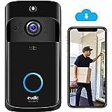 Video Doorbell Wireless WiFi Doorbell Camera IP5 Waterproof HD WiFi Security Camera Real-Time Video for iOS & Android Phone N