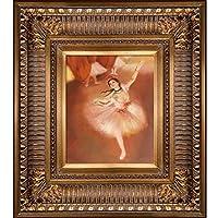 overstockArt Degas Star Dancer Painting with Regalゴールドフレーム、ゴールド仕上げ