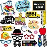 写真ブース用小道具キット 24セット 新学期用 学校初日 カメラ小道具キット 子供と大人用 パーティー用品