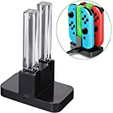 Joy-Con 4-Controller Charging Stand Dock Charger for Nintendo Switch Console