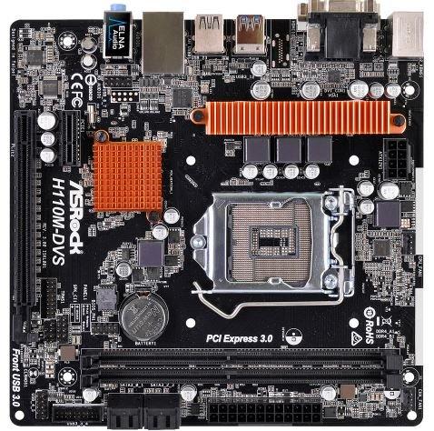 ASRock H110M-DVS R3 インテルH110チップ搭載 Micro ATXマザーボード
