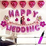 超巨大 結婚式 バルーン ジャンボ ウェディング バルーン セット(Happy Wedding balloon set…