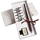 Hethrone Calligraphy Pen Set Fountain Dip Pen and Ink Writing Pen with 11 Nibs and Black Ink Calligraphy Set for Beginners Pe