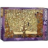 """ジグソー パズル 1000年個セット 19.25""""X26.5""""-クリムト - 生命の木"""