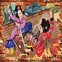 Lixiaoer ヴィンテージ壁紙古典的な韓国風レストランバーベキューキッチンの壁紙壁の壁画-200X140Cm