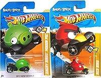 おもちゃ Angry Birds hot wheels ホットウィール Red Bird & mini ミニon Pig 2012 set IN PROTECTIVE CASES ミニカー モデルカー ダイキャスト 模型 [並行輸入品]