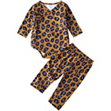 Camidy Unisex Baby Infant Cotton Long Sleeve Leopard Romper + Pants Outfits Set