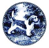 デンマーク製 ドッグ・プレート (犬の絵皿) 直輸入! Petit Basset Griffon Vendéen / プチ・バセット・グリフォン・バンデーン