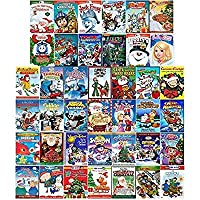 Ultimate Animated Holiday & Christmas 40-Movie Megaset DVD Collection: 'Twas the Night/Jack Frost/Tom & Jerry/Barbie/Thomas & Friends/VeggieTales/Curious George/Kung Fu Panda/Frosty/PBS/Penguins of Ma [並行輸入品]