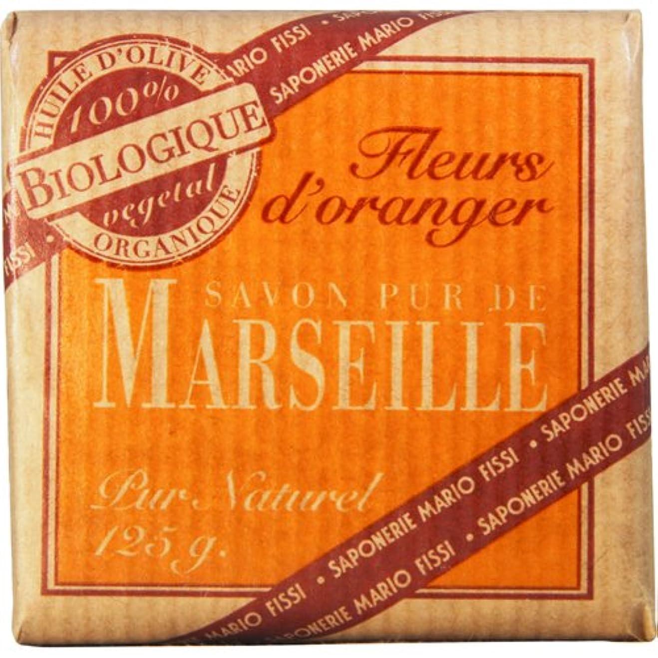 キロメートル国内の自発的Saponerire Fissi マルセイユシリーズ マルセイユソープ 125g Orange Flower オレンジフラワー