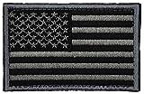 Phoenix Ikki 16タイプ 星条旗 USA アメリカ合衆国 米国 国旗エンブレム サバゲーミリタリーパッチ 布 刺繍 ワッペン 腕章 紋章 マジックテープ アップリケ 8cm×5cm grey