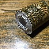 RUDOSTYLE 木目 壁紙 カッティングシート はがせる 壁紙シール 木目調 45cm×10m (モダンブラウン)